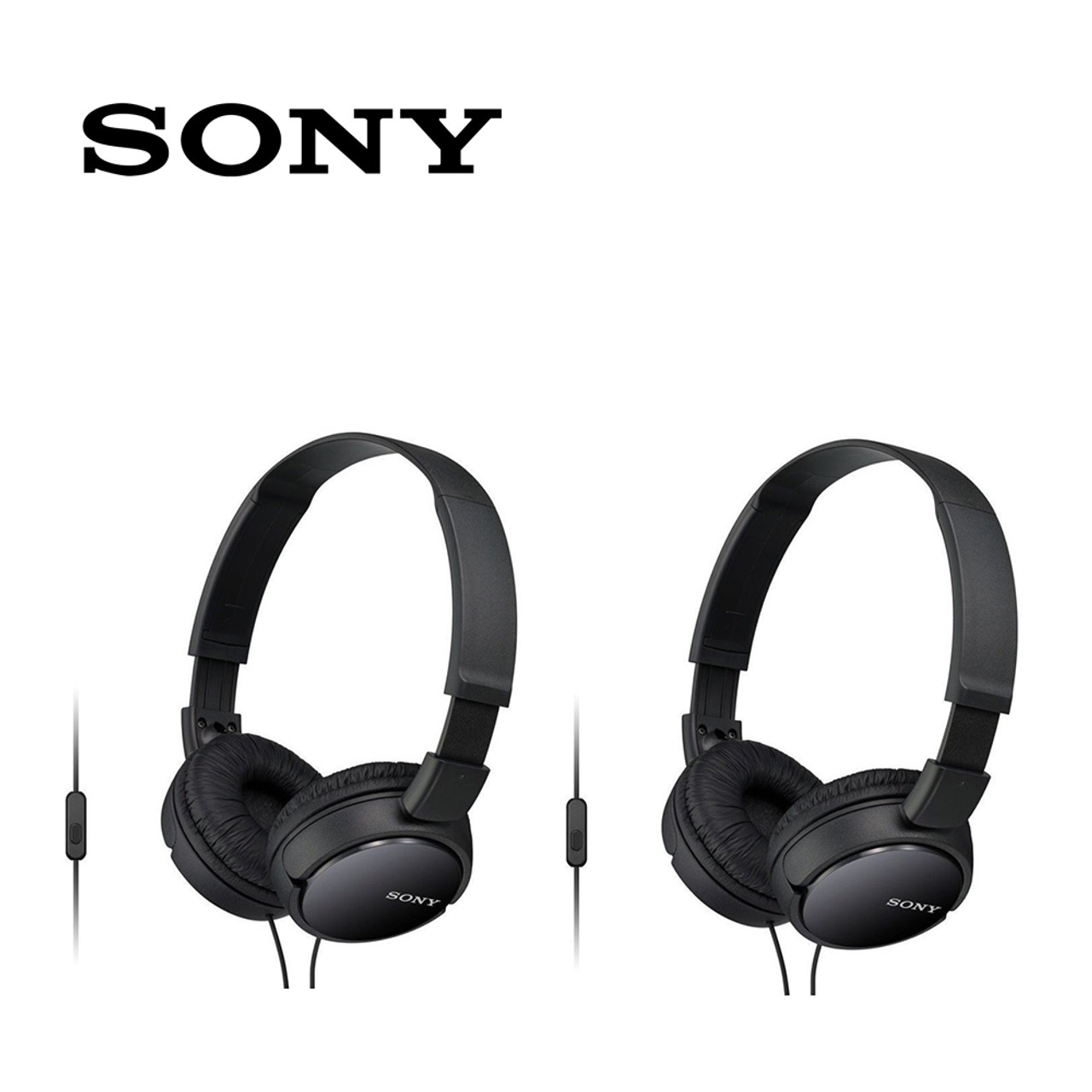 Sony Extra Bass Headphones, MDR-ZX110AP (2-Pack) $24.99 (58% OFF)