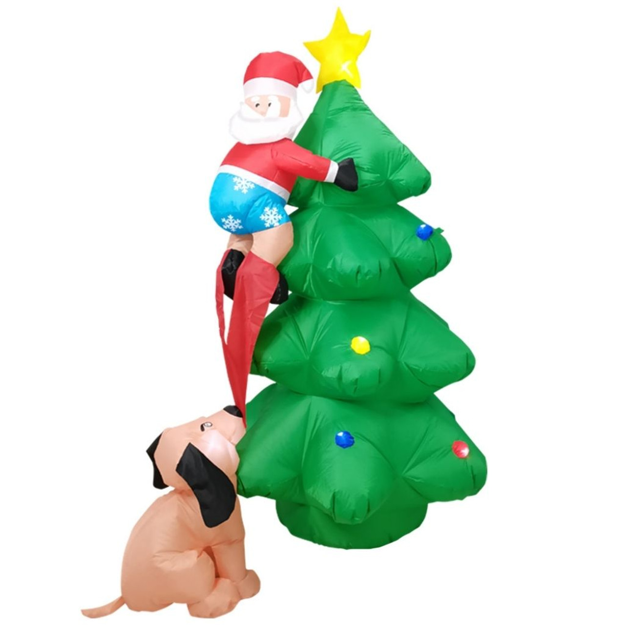 7-Foot LED-Lit Inflatable Christmas Tree with Santa Décor! .99 (REG 9.99) + Free Shipping at Until Gone!
