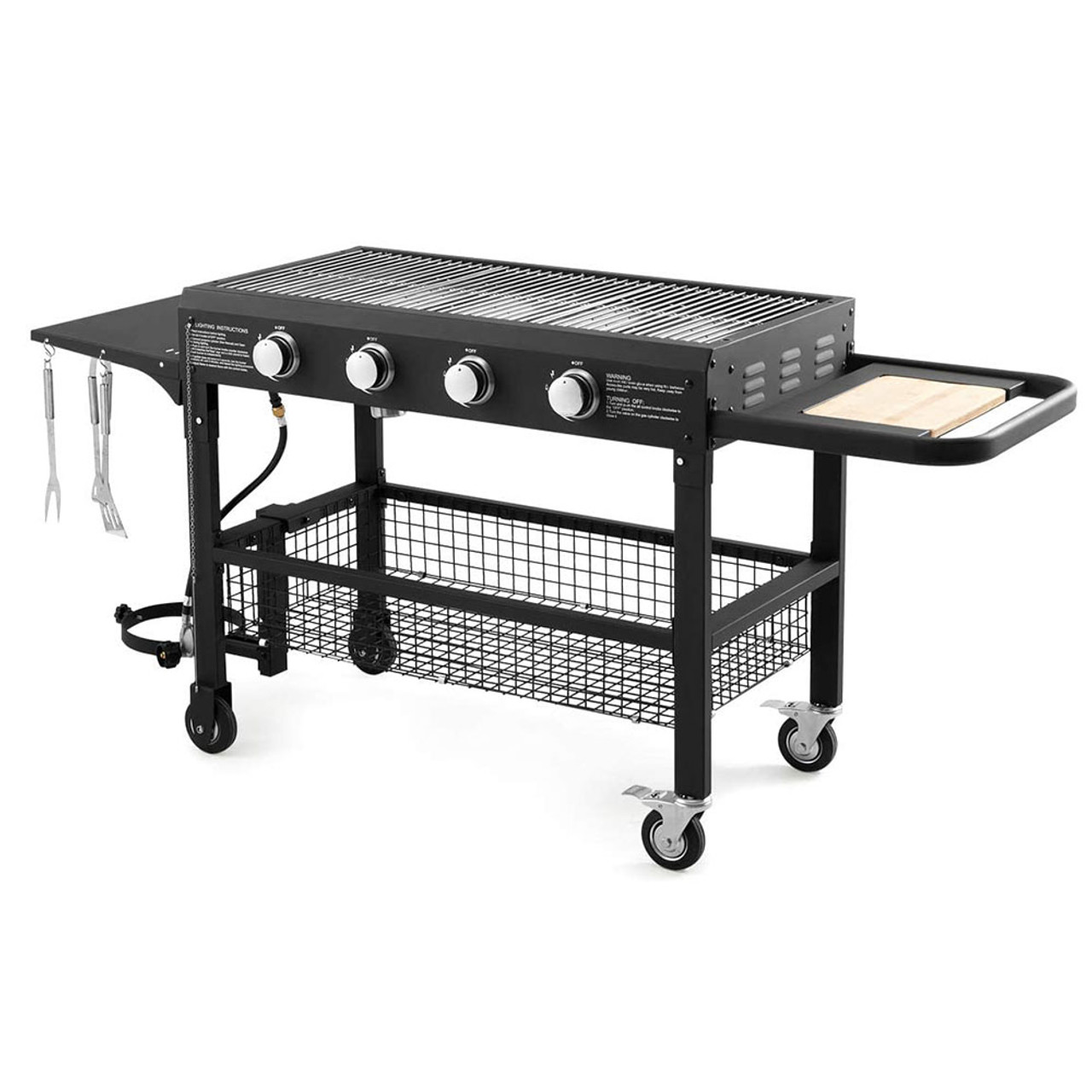 Rolling 4-Burner Propane Gas Grill! 9.99 (REG 9.99 ) + Free Shipping at Until Gone!