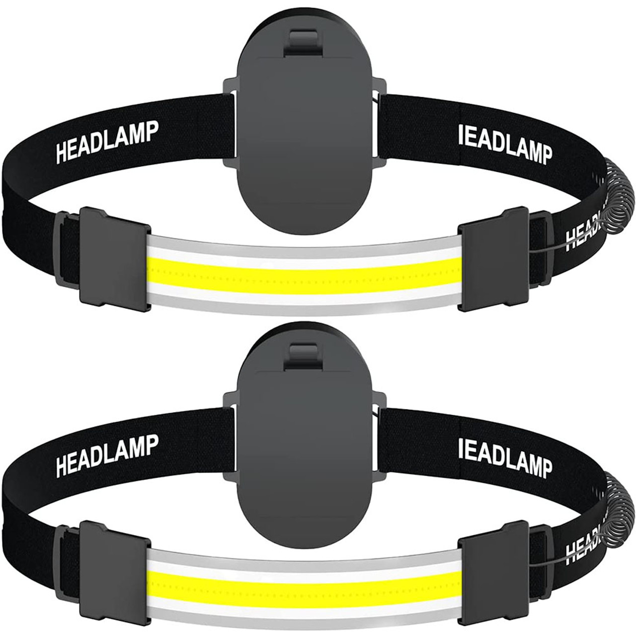 Battery-Powered Wide Beam Bright LED Headlamp (2-Pack)! .99 (REG .99) + Free Shipping at Until Gone!