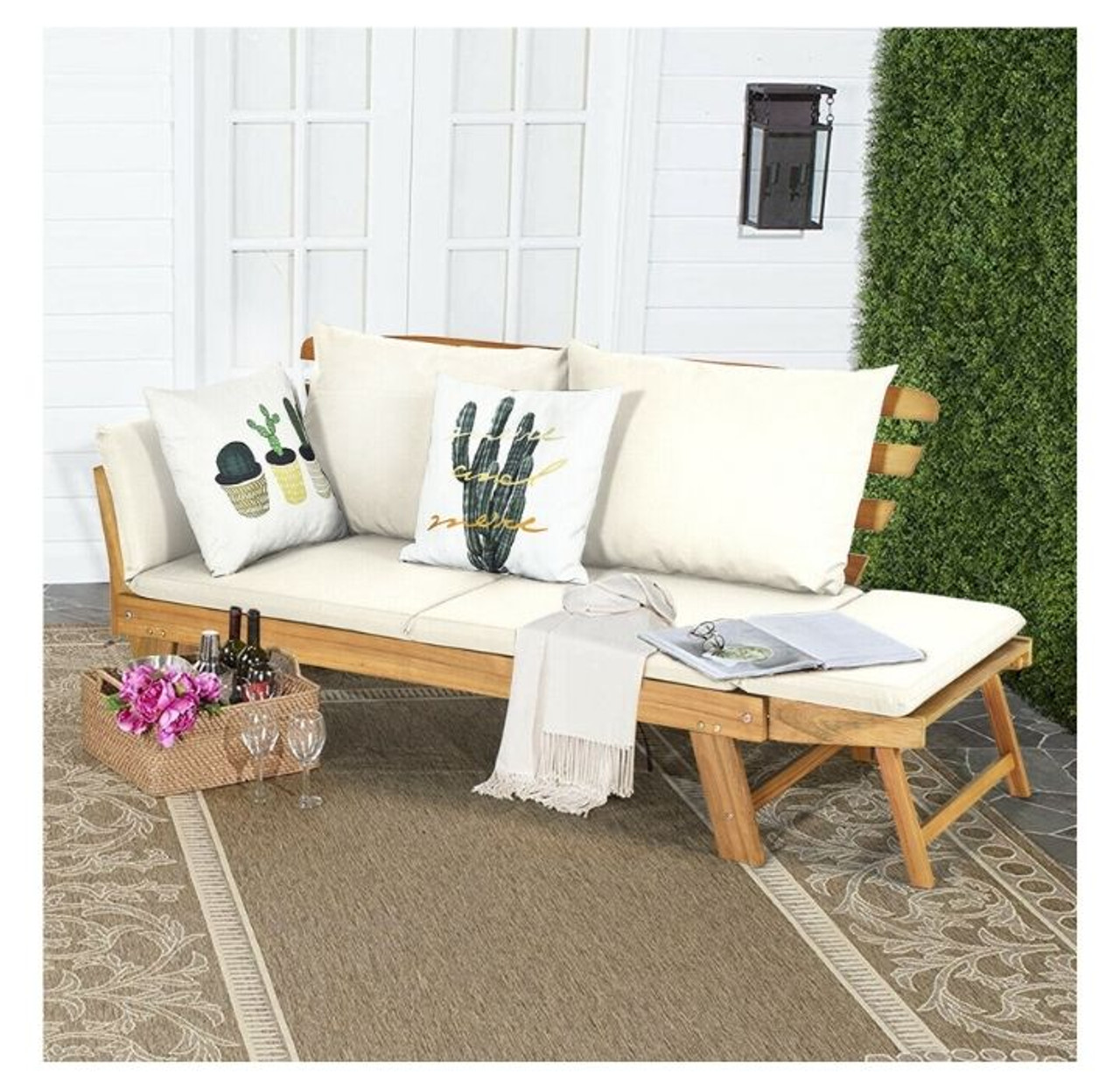 Convertible Wood Outdoor Sofa/Daybed! 4.99 (REG 9.99) + Free Shipping at Until Gone!