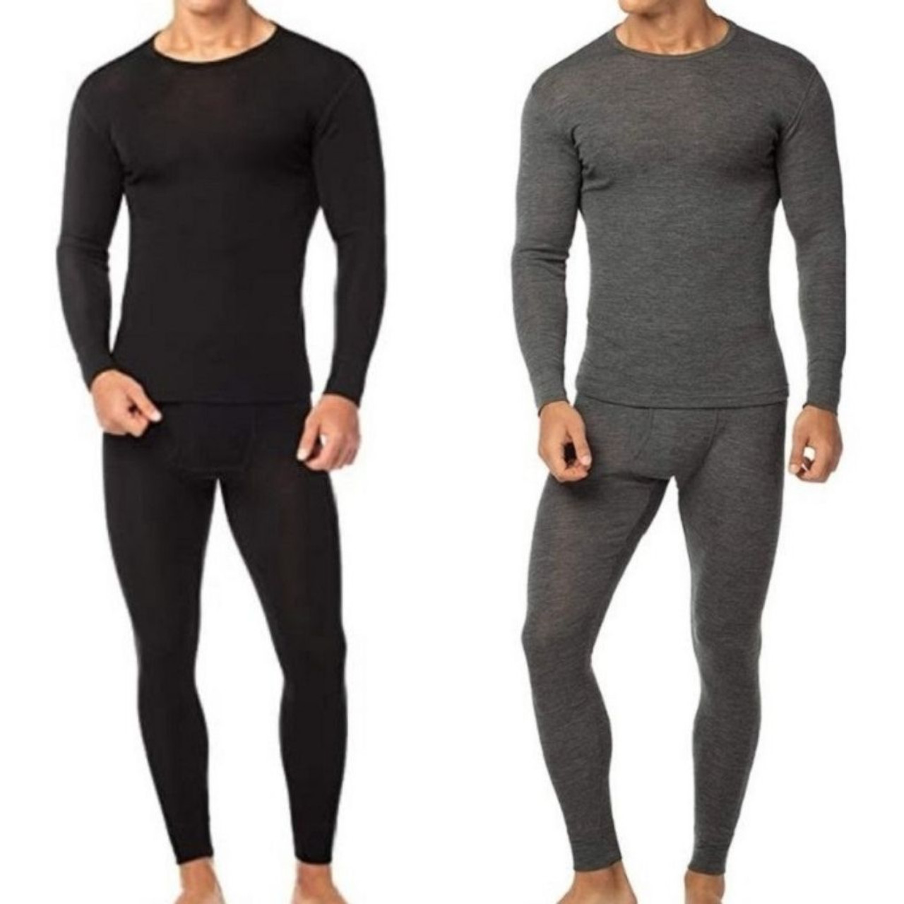 Men's Cotton Fleece Thermal Top and Pants Set (2-Pairs) $29.99 63% OFF