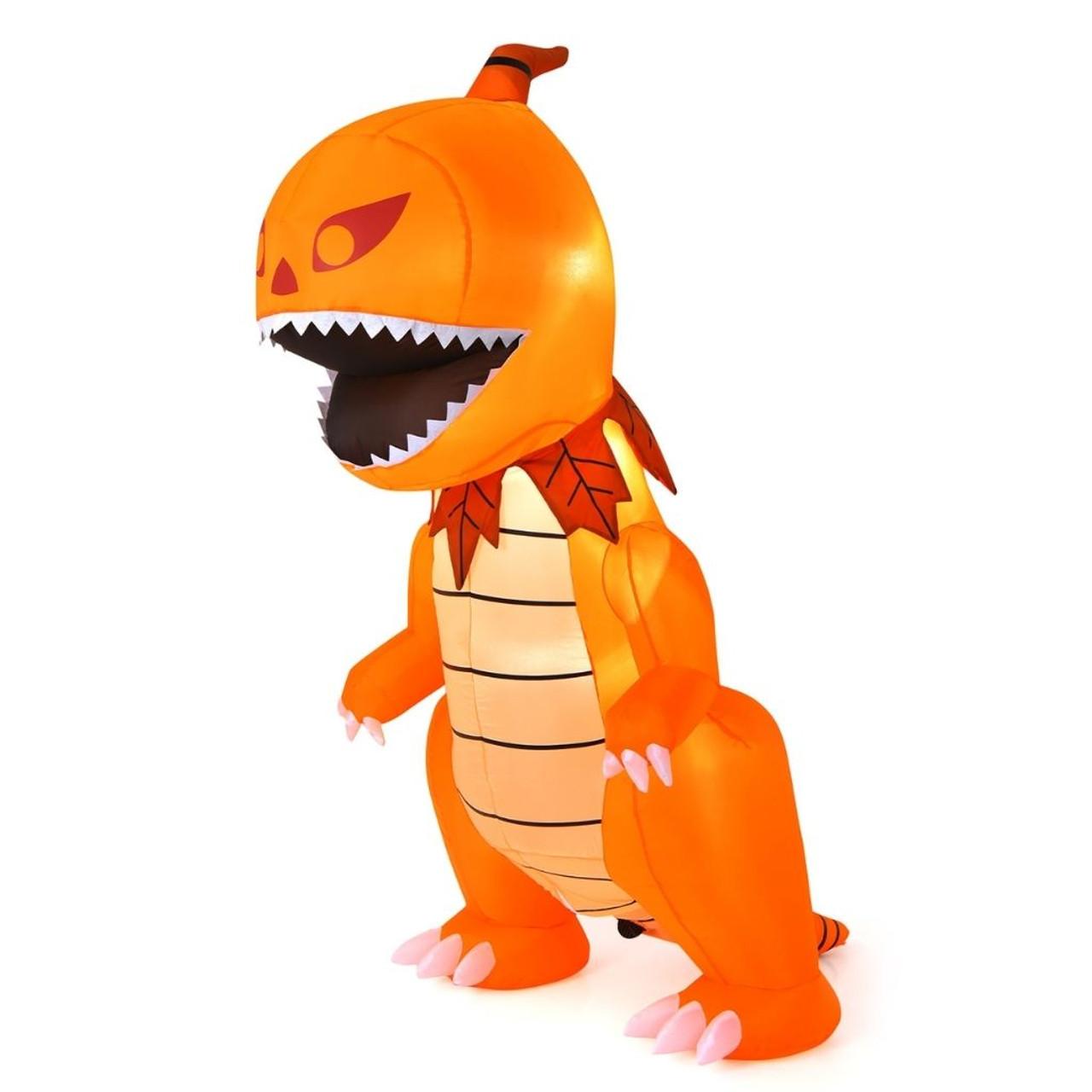 8-Foot Inflatable Halloween LED-Lit Pumpkin Head Dinosaur! .99 (REG 9.99) + Free Shipping at Until Gone!