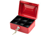 Red Stainless Steel Small Safe Box  product image