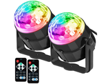 Sound Activated Party Lights with Remote (Set of 2) product image