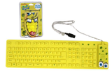 SpongeBob Yellow USB Wired Roll-up Keyboard  product image