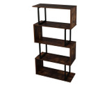 Industrial 4-Tier Easy-Assembly Bookcase product image