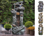 Outdoor Garden Rock Waterfall Fountain with LED Lights product image