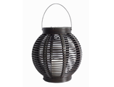 Large Resin Wicker Candle Lantern product image