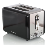 Stainless Steel and Elegant Black 2-Slice Wide Slot Toaster  product image