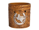 Scentsationals Texas Leather Embossed Full-Size 25-Watt Wax Warmer product image