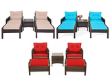 Rattan 5-Piece Patio Chair/Table/Ottoman Set product image
