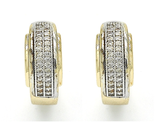 Gold Plated 2-Tone Diamond Accent Earrings product image