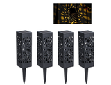 Waterproof Hollow Solar LED Garden Lawn Light (4-Pack) product image