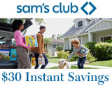 Sam's Club Membership with $30 Off Instant Savings Offer product image