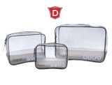 Clear Waterproof 3-Piece Packing Cube Set product image