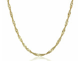 Italian 10k Yellow Gold Singapore Chain Necklace  product image