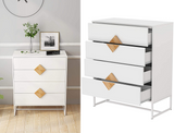 Modern 4-Drawer Dresser with Wood Square Handle Design product image