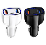 3-Port Fast Charge 3.0 Car Charger product image