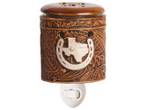 Scentsationals Texas Leather Embossed 15-Watt Plug-in Accent Wax Warmer  product image