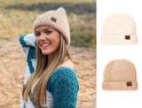 C.C Classic Chenille Fuzzy Marbled Knit Warm Beanie  product image