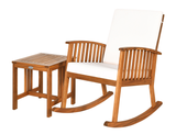 Acacia Wood Patio Rocking Chair & Coffee Table product image