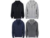 Men's Fleece Cotton-Blend Full Zip Hoodie (2-Pack) product image