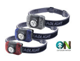 Outdoor Nation 7-LED Headlamp with White & Red Bulbs (3-Pack) product image