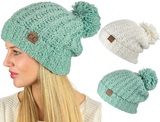 C.C Chenille Soft Stretchy Knit Beanie with Pom product image