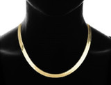 14k Gold Plated Flat Herringbone Chain Necklace  product image