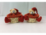 Teddy Bear Holiday Candy Storage Baskets (2-Pack) product image