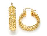 Cable Link 14K Gold-Filled Elegant Hoop Earrings product image