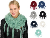 C.C Chenille Thick Knit Infinity Scarf with Fringed Tassels product image