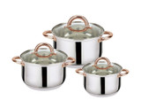 Stainless Steel 6-Piece Casserole Set product image