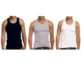Men's 100% Ring Spun Cotton A-Shirts (6-Pack) product image