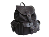 Jumbo Dark Brown Leather Backpack product image