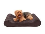 FurHaven Contoured Plush & Velvet Pet Bed product image