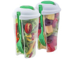 Portable BPA-Free On-the-Go Food & Salad Storage Container (2-Pack) product image