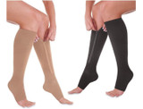 Open Toe Zip Up Compression Socks product image