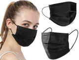 Black Disposable Non-Medical 3-Ply Face Mask (50-Pack or 100-Pack) product image