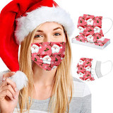 Santa Themed Disposable Non-Medical 3-Ply Face Mask (50-Pack) product image