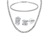 14k Gold Plated 3-Piece Jewelry Set with Swarovski Crystals product image