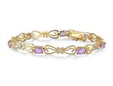 3.15ct Genuine Amethyst & Diamond Bracelet product image