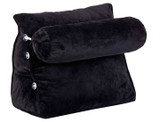 Plush Wedge Backrest Pillow with Neck Bolster (Clearance) product image