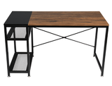 Industrial Office Desk with Two Metal Shelves product image