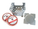QuickStove Portable Camp Cube Stove with Two Fire Starters product image