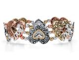 Tri-Tone Antiqued Stretch Romantic Bracelet product image