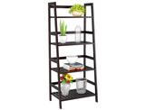 4-Tier Bamboo Ladder Shelf product image