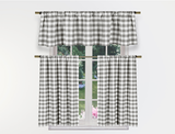Gingham Checkered 3-Piece Kitchen Curtain Set (2-Pack) product image