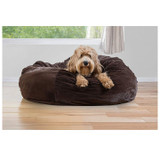 FurHaven Insulating Plush Pet Ball Lounger Bed product image